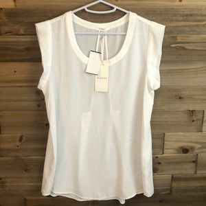 ❤️NWT Pleione Sheer Capped Sleeve Blouse Size S ❤️